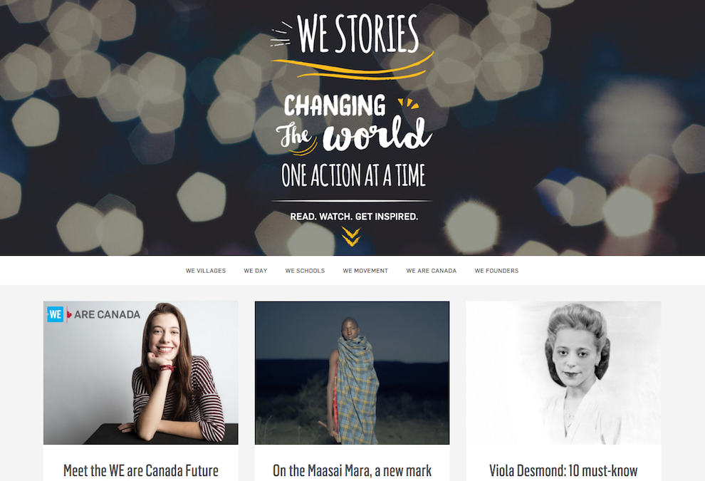 we stories, we.org, social media influencer, social influence, social media marketing, influencer marketing agency, influencer marketing, marketing agency toronto, marketing agency newmarket, marketing agency muskoka